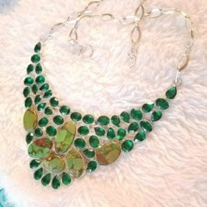 Boho Sterling SILVER  Mojave Turquoise Diopside